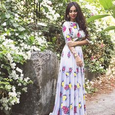 """Seems like #spring has arrived a tad early this season! #POPxoBlogNetwork's @aanamc looking pretty in #pastels in a #floral embellished gown!  Love her…"""