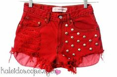 Cherry red shorts