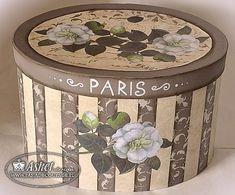 pudlo_kapelusze Decoupage Box, Decoupage Vintage, Vintage Crafts, Tea Box, Hat Boxes, Pretty Box, Altered Boxes, Vintage Box, Photo Craft