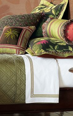 Escape to a tropical paradise with the Tahiti Bedding Collection by Eastern Accents.