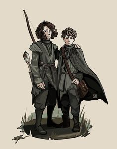 The Crannogmen: Meera and Jojen Reed by Munkell