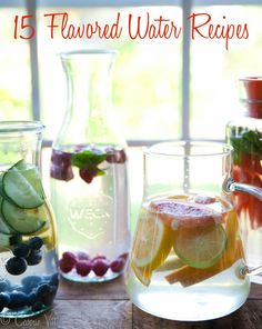 "15 Flavored Water Recipes via DeliciouslyOrganic.net  Not really ""recipes"" but an array of combinations I haven't thought of before!"