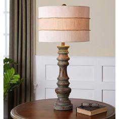 Uttermost Gerlind Wooden Table Lamp 26176-1
