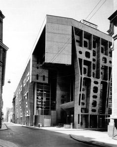 by architect Clorindo Testa: The Bank of London, Buenos Aires, Argentina, 1960s