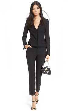 Dolce&Gabbana Stretch Wool Jacket & Ankle Pants available at #Nordstrom
