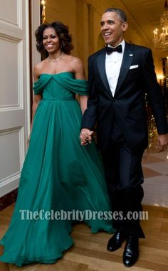 Michelle Obama Off-the-Shoulder Prom Dress 36th Kennedy Center Honors Gala - TheCelebrityDresses