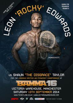 Leon 'Rocky' Edwards Vs. Shaun 'The Disgrace' Taylor #BAMMA16 #MMA #MixedMartialArts #UFC #BAMMA