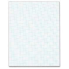 Tops 33041 8.5 x 11-Inch Quadrille Pad, 4 Squares per Inch, 20 Pound Stock, 50 Sheets (White): Amazon.ca: Office Products