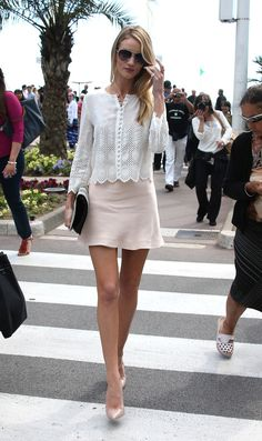 Rosie Huntington-Whiteley - Rosie Huntington-Whiteley Takes a Walk in Cannes
