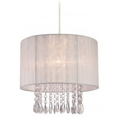 Firstlight Organza Easy Fit Non-Electric Ceiling Pendant with a White Shade