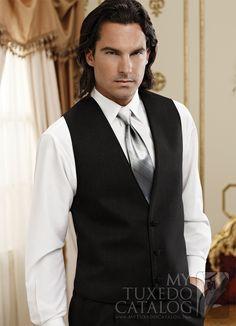 Black 3 Button Tuxedo Vest from http://www.mytuxedocatalog.com/catalog/vests/VM989-Black-Twilight-Tuxedo-Vest/