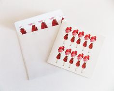 Fashion illustration greeting card Fashion by IvanaIllustrations