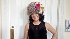 Floral hat, gorgeous.  From floristry workshop