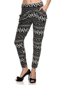 Aztec Harem Pants Printed Leggings - Free Shipping on Etsy, $14.89