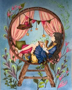 Image about girl in illustration by Lookitsa on We Heart It Art And Illustration, Watercolor Illustration, Watercolor Art, Illustrations, Art Drawings Sketches, Cute Drawings, Poster Print, Anime Art Girl, Whimsical Art