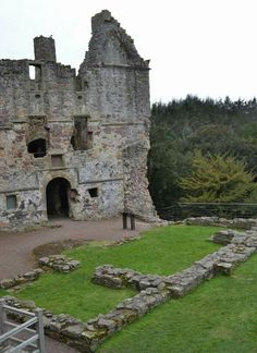 Dirleton Castle in North Berwick, East Lothian, Scotland