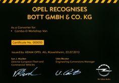 Opel geeft Certificaat aan Bott