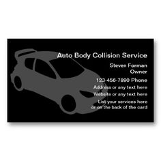 18 best body shop business cards images on pinterest business auto collision business cards colourmoves