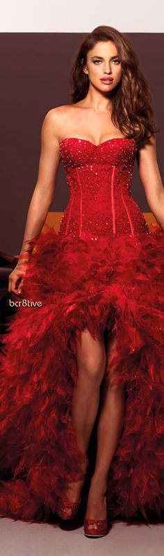 Alessandro Angelozzi Couture - red wedding gown - 2012 jaglady