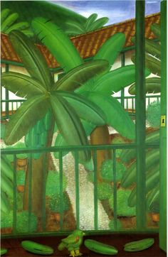Patio by Colombian artist Fernando Botero (born Frida Diego, Statues, 19 Avril, Canvas Art For Sale, Fine Art Auctions, Naive Art, Stretched Canvas Prints, Installation Art, Oeuvre D'art
