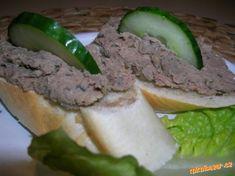 Jednoduchá domácí paštika aneb víte co jíte :-) Hamburger, Recipies, Food And Drink, Beef, Ethnic Recipes, Food Ideas, Recipes, Meat, Burgers