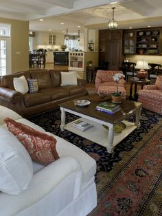 mixing leather and fabric furniture in living room dining how to decorate with a sofa chairs homebody brown design pictures remodel decor ideas page 8