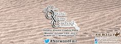 Extreme Cowboy Racing returns to the Norwood Fair with Ontario Xtreme Cowboy - an affiliate of the Extreme Cowboy Association (EXCA), Monday, October 14 (Thanksgiving Monday) in Norwood, Ontario! https://www.facebook.com/events/270944793042387/