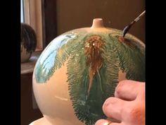 Mocha Diffusion on a large bulb vase