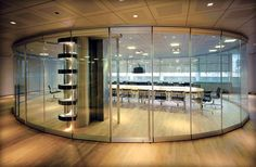 Moveable glass walls - conference room  by Verhalen Commercial Interiors  (www.verhalencommercialinteriors.com)