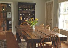 country dining room.