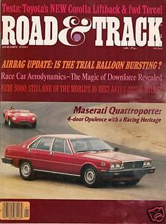 Road & Track Car Magazine January 1980 - Maserati Racing Corolla Audi