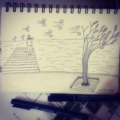 1th March #inspiration is #breeze.  #sketchbookskool