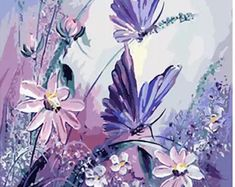 Frameless pictures butterfly painting by numbers hand painted canvas cartoon drawing diy oil painting by numbers Hand Painted Canvas, Diy Canvas, Canvas Wall Art, Canvas Frame, Large Canvas, Simple Oil Painting, Diy Painting, Painting Canvas, Wall Art Pictures