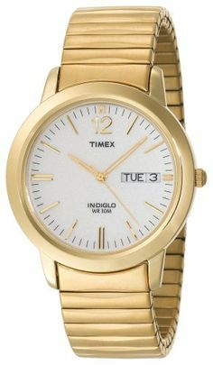 timex mens classics day date indiglo light gold tone stainless timex men s t21942 elevated classics dress gold tone expansion band watch timex 34 95