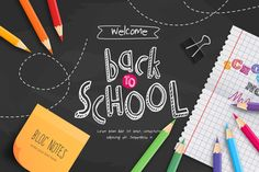 Chalkboard back to school with school supplies Free Vector Free School Supplies, School Supply Labels, Welcome Back To School, Free Education, Borders And Frames, Photo Craft, Adobe Illustrator, Student, School Chalkboard
