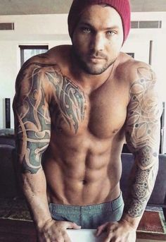 Six pack and tats