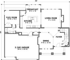 10.25.12 Craftsman Style House Plans - 3078 Square Foot Home , 2 Story, 4 Bedroom and 4 Bath, 3 Garage Stalls by Monster House Plans - Plan 21-645