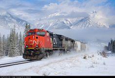 RailPictures.Net Photo: CN 2138 Canadian National Railway GE C40-8W (Dash 8-40CW) at Jasper, Alberta, Canada by Tim Stevens