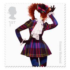 Moda Británica en Timbres Postales