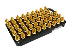 Gold Metal Spike Punk Stud Black Hard Case