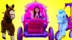 Emma Drives Disney Princess Carriage Ride-on Toy