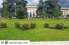 #Repost @sakharnaya.vata with @repostapp  Nuova Piazza Leonardo da Vinci Milano.  #piazzaleonardodavinci #milano #milan #милан #milanodavedere #pratone #verde #temporale #polimi #beyondcittastudi #mappingcittastudi by beyondcittastudi