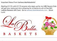 Win a $25 LaBella Baskets Gift Card!