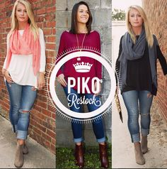 Our Blank Slate #piko Tops have just been #restocked online in Ivory - Wine - Black! Limited Quantities & they Always move Fast at southernswankboutique.com #instafashion #instastyle #restock #basics #trending #ootd #wiw #boho #bohochic #fall2014 #fallfashion #shoplocal