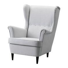IKEA Strandmon Wing Chair In Vellinge Dark Blue 329 IKEA Canada Nursery