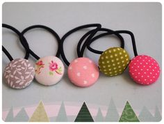 DIY- Fabric Covered Buttons (make them into hair ties, magnets, pushpins or buttons for clothes)