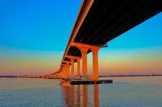 The bridge to Vilano Beach, St Augustine.  Best view at sunrise.