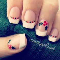 cutepolish Christmas nails!! want to do this for christmas!!