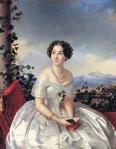 1840s, by Sergey Zaryanko.  Looks uncomfortable, but so pretty!  (Why is that??)