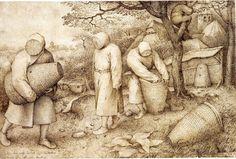 Chapter Two: Fifteenth Century. 2-28  Pieter Bruegel, The Beekeepers, ca. 1567-68. Pen and brown ink, 20.3 x 30.9 cm. Kupferstichkabinett, Staatliche Museen zu Berlin.